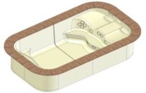 BLUE VISION / Un produit hybride entre spa et piscines adapté aux petits espaces